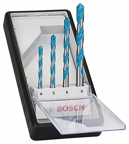 Bosch Professional - Juego de 4 brocas multiuso Robust Line CYL-9 MultiConstruction 5,5; 6; 7; 8 mm: Amazon.es: Bricolaje y herramientas
