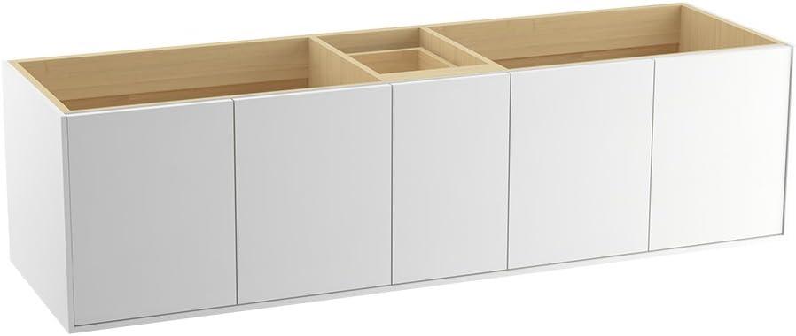 Split Top Drawer 72 KOHLER K-99550-SD-1WU Jute Vanity with 4 Doors and 1 Drawer Batiste Black