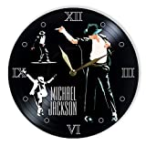 "Leooolukkin Michael Jackson Vinyl Clock 12"", Wall"