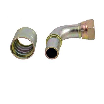 Hidráulico 1,91 cm PT de 90 Degree woofers de aceite tuberías de acoplamiento Conector