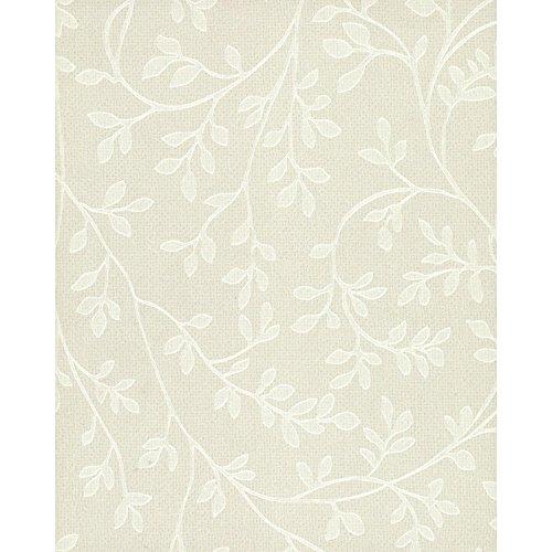 (York Wallcoverings TN0022 Leaf Vine Wallpaper, Whites)
