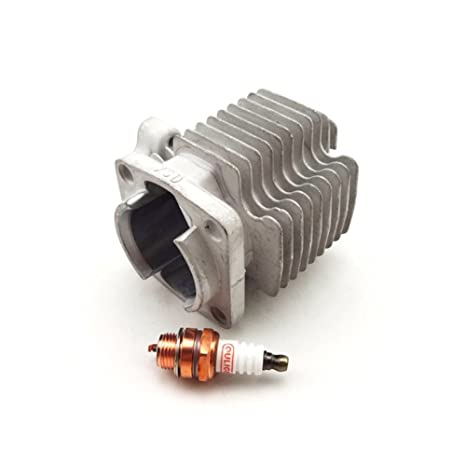 tc-motor 40 mm cilindro cabeza + Bujía Para 47 cc 2 tiempos motor partes