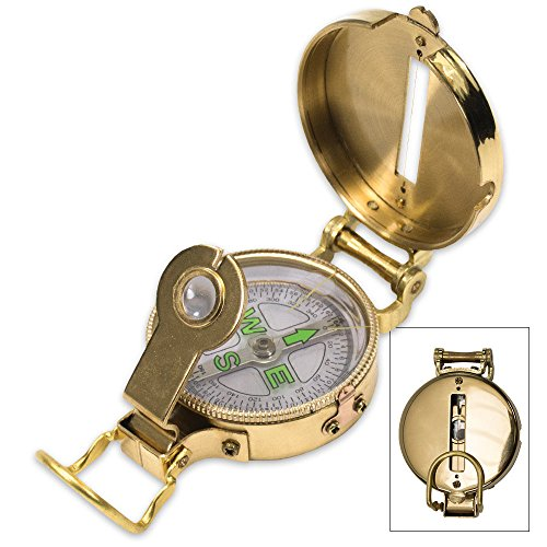 UST Heritage Lensatic Compass with Lightweight Brass Construction for Camping, Hiking, Backpacking, Hunting and Outdoor Survival by UST