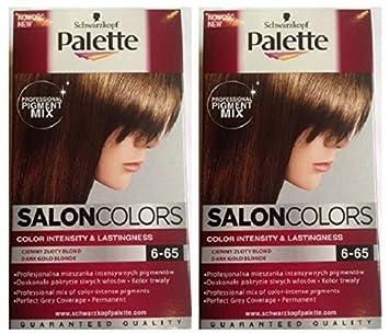 Schwarzkopf Palette SALON Colours Hair Colour 6-65 DARK GOLD