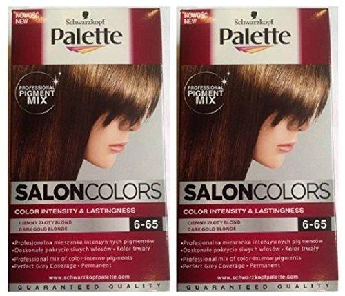 Schwarzkopf Palette Salon Couleurs Coloration Cheveux 6 65 Foncé Or