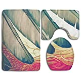 washer and dryer bases pedestal - Libra Angel Wine Girl Bathroom Rugs And Mats Sets 3 Piece Non-Slip Base Bath Mat Toilet Rug Toilet Lid Cover Set Toilet Mat Dries Quickly