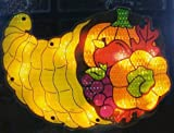 Northlight 10856708 Lighted Thanksgiving Cornucopia Window Silhouette Decoration, 16""