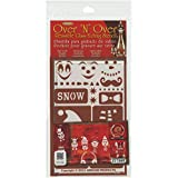 Armour Products Over N Over Glass Etching Stencil, 5-Inch by 8-Inch, Snow Fun