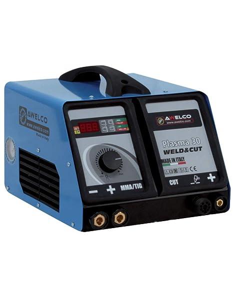 Soldadura Generador para corte Plasma TIG y MMA inverter Awelco Plasma 30 Weld & Cut