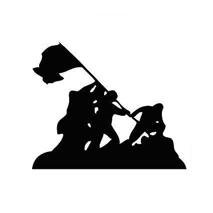 "Iwo Jima WWII Silhouette 6"" Vinyl Sticker Car Decal ..."