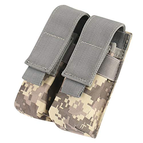 Nehostertfy Tactical Double Pistol Magazine Pouch Mag Holder … (Black) …