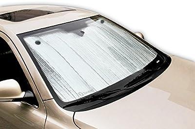 Zone Tech Silver Foldable Sun Shade - Premium Quality Metallic Reflective Car Sun Shade
