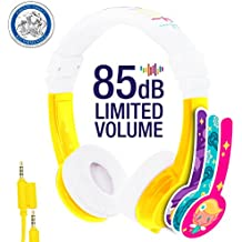 Explore Foldable Volume Limiting Kids Headphones - Durable, Comfortable & Customizable - Built in Headphone Splitter and In Line Mic - For iPad, Fire, Computers and Tablets – Yellow