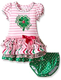 Appliqued Knit Tutu Dress and Panty Set