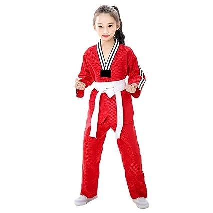 Goyajun Trajes de Taekwondo para Adultos y Niños Uniforme de ...