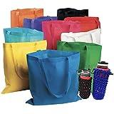 50 SVT Bulk Tote Bag Mega Assortment - Reusable Shopping Bags