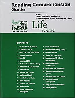 holt science technology life science reading and comprehension guide. Black Bedroom Furniture Sets. Home Design Ideas