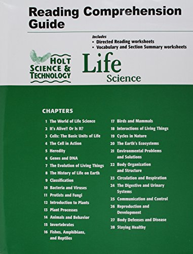 Holt Science & Technology: Life Science: Reading and Comprehension Guide