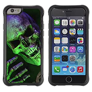 King Case@ Halloween Scary Green Skull Vampire Rugged hybrid Protection Impact Case Cover For iphone 6 6S CASE Cover ,iphone 6 4.7 case,iphone 6 cover ,Cases for iphone 6S 4.7