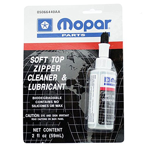 Mopar Jeep Wrangler Soft TOP Zipper Cleaner LUBE OEM (Soft Jeep Top Cleaner)