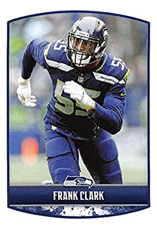 2018 Panini NFL Stickers Collection  431 Frank Clark Seattle Seahawks  Official Football Sticker 69355f09b