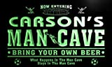 qd1472-g CARSON's Man Cave Soccer Football Neon Beer Sign