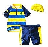 StylesILove Little Dragon Striped Rash Guard 3-piece Boy Swim Set (6)