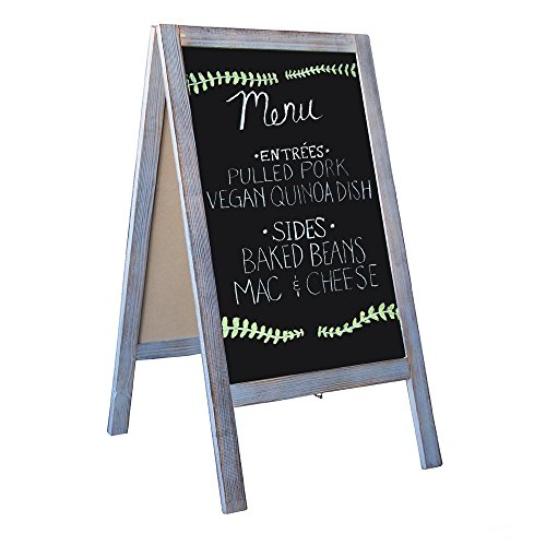 Wooden A-Frame Sign with Eraser & Chalk - 40