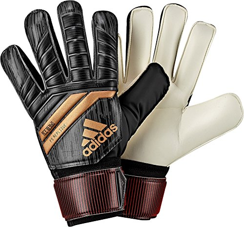fan products of adidas Performance ACE Fingersave Junior Goalie Gloves, Black, Size 7