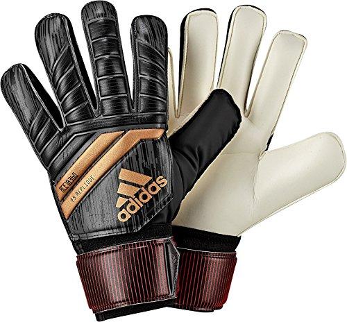 adidas Performance ACE Fingersave Junior Goalie Gloves, Black, Size 7 (Goalie Soccer Gloves Goalkeeper)