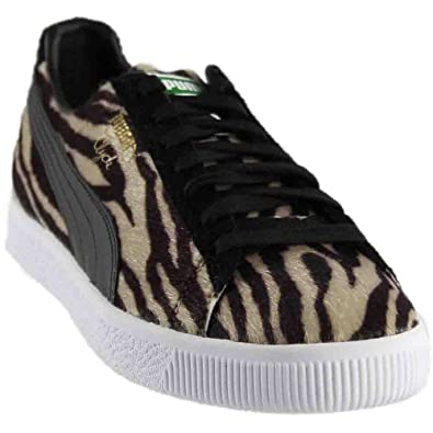 PUMA Mens Clyde Suits Oatmeal/Puma Black/Puma White 7.5 ...