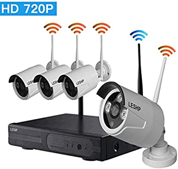 LESHP 720p 4 Channel Video Security System