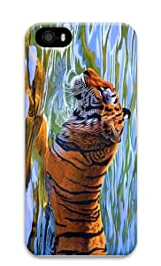 waterproof cover tiger in water PC Case for iphone 5/5S