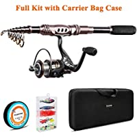 PLUSINNO Fishing Rod and Reel Combos Carbon Fiber...