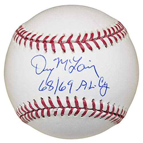 Autographed Denny McLain Baseball - Official w 68 69 AL CY - Autographed Baseballs