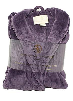 Adrienne Vittadini Women's Soft Textured Burnout Print Cashmere Bath Robe | Knee Length