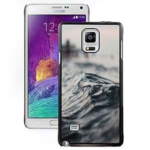 Fashionable Custom Designed Samsung Galaxy Note 4 N910A N910T N910P N910V N910R4 Phone Case With Macro Wave Seaside_Black Phone Case