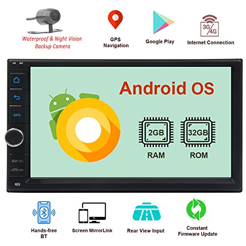 Android Double Din Car Stereo System Bluetooth GPS Navigation 2 Din Car in Dash...