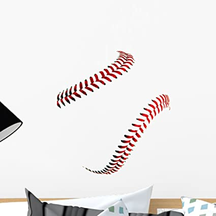 Wallmonkeys Baseball Stitches Wall Decal Peel and Stick Graphic (18 in W x 16 in & Amazon.com: Wallmonkeys Baseball Stitches Wall Decal Peel and Stick ...