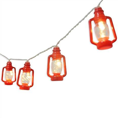 AceList Mini Kerosene Lantern String Lights for Ramadan Camper Patio Dorm  Room Decorations Red 20 LED