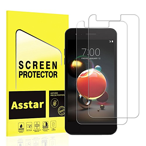 - [2 Pack] Asstar For LG Aristo 2/ LG K8 2018 Tempered Glass Screen Protector, 2.5D Arc Edges 9 Hardness HD Anti-Scratch Bubble-Free Lifetime Replacement Warranty