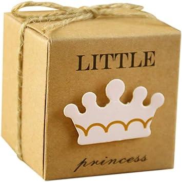 Zedo Cajitas para Regalos Cajitas Regalo Boda Caja de Boda Caja de Caramelos Cajas de Carton Cajas de Carton para Dulces de cumpleaños de bebé 5.3 * 5.3 * 5.3cm,50PC,Princesa: Amazon.es: Hogar