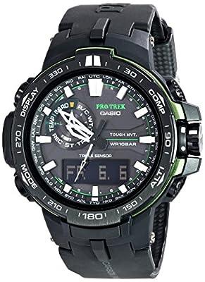 Casio Men's PRW-6000Y-1ACR Pro Trek Black Analog-Digital Sport Watch from Casio