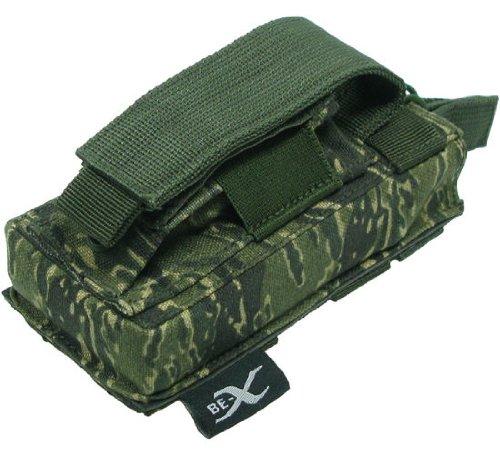 BE-X Kombi-Magazintasche für CQB, MOLLE, für je 1 M4/M16 u. Pistolen Magazin - rooikat