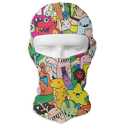 Balaclava Cute Monster Dragon Animals World Full Face Masks UV Protection Ski Hat Womens Snowboard for Sports