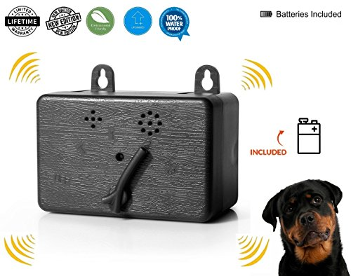 Access & Gadgets Brand New Mini Bark Control Device Outdoor Anti Barking Ultrasonic Dog Bark Control Sonic Bark Deterrents Silencer Stop Barking Bark Stop Repeller Battery Included by Access & Gadgets
