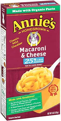 Mac & Cheese: Annie's Less Sodium