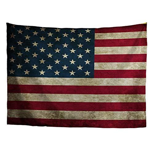 HUGS IDEA Tapestry American Flag Decor Tapestries US Symbolism Vintage Wall Blanket Art Handicraft for Bedroom Living Room - Tapestry Flag