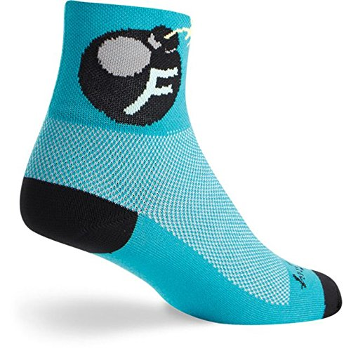 SockGuy Classic 3in F Bomb Cycling/Running Socks (F Bomb - (Sock Guy Running Socks)