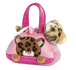 Aurora World Fancy Pals Pet Carrier, Peek-a-boo Leopard